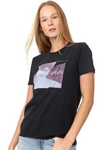 Blusa Calvin Klein Jeans Show Your Memories Preta