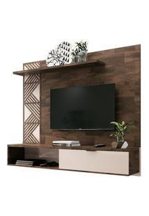 Painel Bancada Suspensa Para Tv Até 50 Pol. Grid Deck/Off White - Hb Móveis