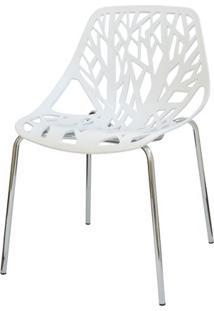 Cadeira Planta Branca Base Cromada - 15106 - Sun House
