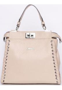 Bolsa Com Trançado - Rosa Claro - 24X26X13Cmgriffazzi