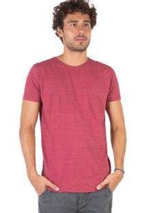 Camiseta Básica Comfort Taco Masculina - Masculino-Vermelho Claro