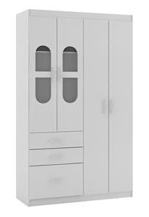 Armário Rodial Ternura Com 4 Portas E 3 Gavetas - Branco