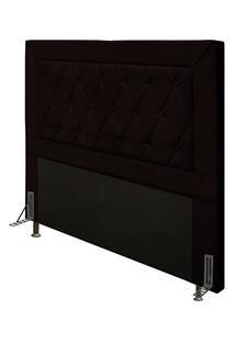 Cabeceira Cama Box Casal Queen 160Cm D10 Turmalina Corano Marrom - Mpo