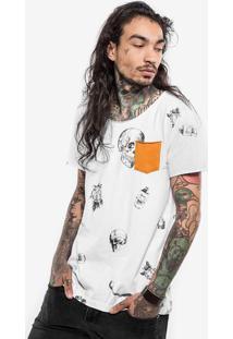 Camiseta Skull Bolso Mostarda 101208