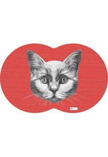 Tapete Pet Gato Vermelho 55X35Cm