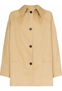 Kassl Editions Trench Coat Com Abotoamento - Neutro
