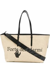 Off-White Bolsa Tote Com Estampa De Logo - Neutro