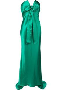 Alessandra Rich Vestido De Festa Tomara Que Caia - Verde