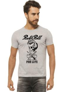 Camiseta Joss - Rock Roll - Masculina - Masculino-Mescla