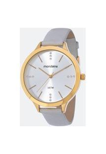Relógio Feminino Mondaine 53589Lpmgdh4K Analógico 3Atm + Conjunto Semijóia | Mondaine | Prata | U