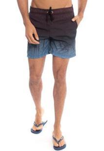 Shorts Aleatory Waterside Masculino - Masculino-Preto