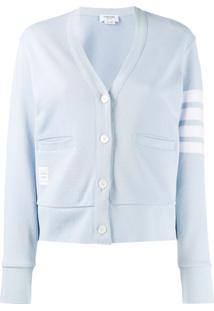 Thom Browne Cardigan '4-Bar' - Azul