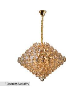 Lustre Diamond- Cristal & Dourado- 37Xø40Cm- Bivhevvy