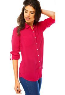 f36aa3b14 ... Camisa Manga Longa Cativa Fashion Rosa