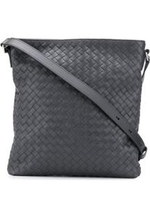 Bottega Veneta Intrecciato Effect Shoulder Bag - Cinza