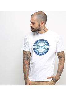 Camiseta Hurley Silk Worldwide Masculina - Masculino-Branco