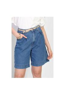 Bermuda Jeans Colcci Chino Comfort Azul