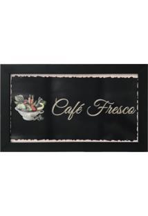 Quadro Decorativo Para Cozinha Café Fresco 33X20 - D'Rossi