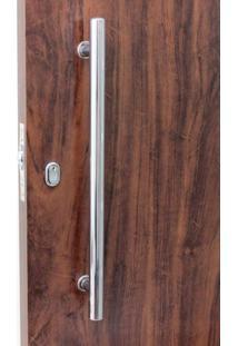 Puxador Para Porta Duplo Em Inox Tubular Eco 1 Prata