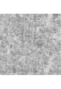 Papel De Parede Marmorizado- Cinza & Cinza Claro- 10Shark Metais