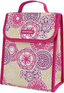 Bolsa Térmica Floral- Pink & Roxa- 23X19X13Cmjacki Design