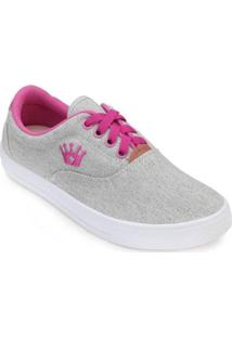 Tênis Mont Car Mark Shoes Feminino - Feminino-Cinza+Pink