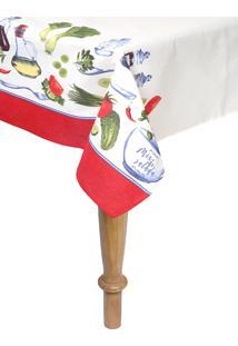 Toalha De Mesa Retangular Karsten Limpa Fácil Salada 140X250