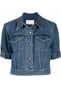 Chloé Jaqueta Jeans Cropped - Azul