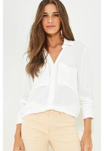 Camisa Ateen Marilia Feminina - Feminino-Off White