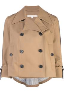 Veronica Beard Double Breasted Trench Jacket - Neutro