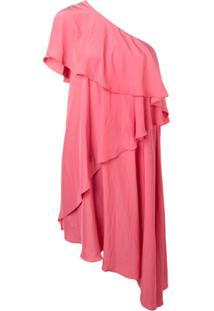 Lanvin Ruffled One-Shoulder Dress - Rosa