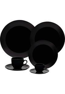Aparelho De Jantar Coup Black 42 Peças - Oxford Preto