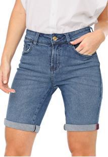 Bermuda Jeans Dzarm Reta Estonada Azul