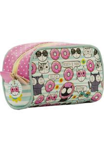 Necessaire De Viagem Pequena - Coleção Donuts - Mood