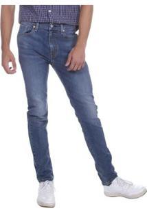 Calça Jeans Levis 510 Skinny Média Masculina - Masculino-Azul