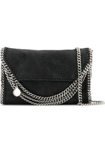 Stella Mccartney Bolsa Tote Falabella Super Mini - Preto