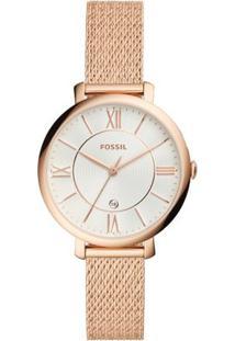 Relógio Fossil Feminino Ladies Jacqueline - Es4352/1Dn Es4352/1Dn - Feminino-Rose Gold