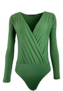 Body Be Sweet Transpassado Feminino - Feminino-Verde
