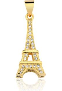 Pingente Toque De Joia Torre Eiffel Dourado