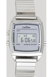 Relógio Digital Condor Feminino - Cojh512Ab3K Prateado - Único