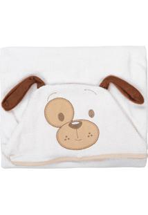 Toalha De Banho Para Bebê Baby Joy Com Capuz Cachorrinho