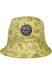 Chapéu Bucket Hats Black Bird Thb 44A Feminino - Feminino-Amarelo Escuro