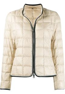Fay Padded Zip Jacket - Neutro