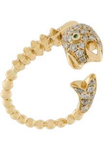 Yvonne Léon Brinco Único De Ouro 18K Com Diamantes - Dourado