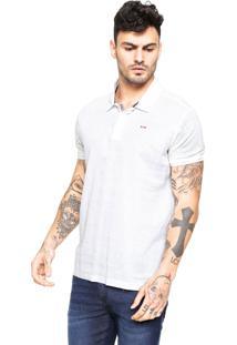 Camisa Polo Coca-Cola Jeans Reta Logo Off-White