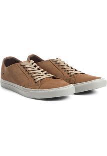 Sapatênis Couro Shoestock Nobuck Color Masculino - Masculino-Bege
