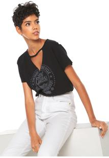 Camiseta Guess Choker Estampada Preta - Kanui