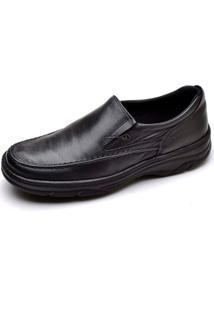 Sapato Social Masculino Top Franca Shoes Ortopedico Conforto Preto