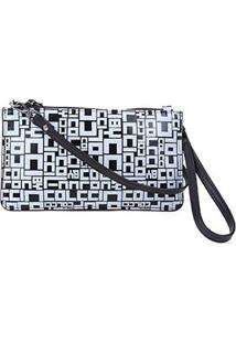 Bolsa Couro Colcci Mini Bag Logomania - Feminino-Preto