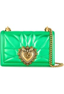Dolce & Gabbana Bolsa Tiracolo Devotion Média - Verde